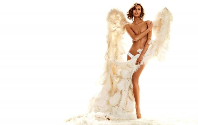 Karlie Kloss, the way, angel, wings, light background