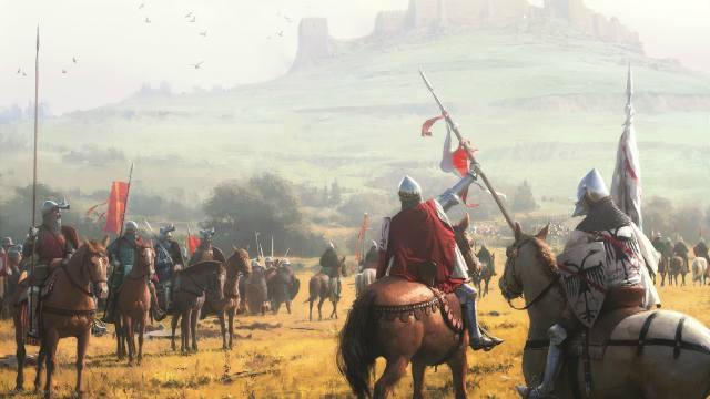 рыцари, гора, Крепость.