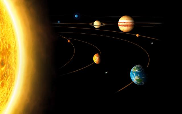 planet, space, earth, the sun, Circle, the atmosphere, Mars, Jupiter, the universe