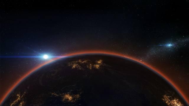 země, planeta, hvězdy, vesmír