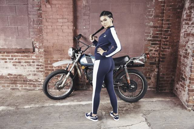 Kylie Jenner, motorcycle, glasses