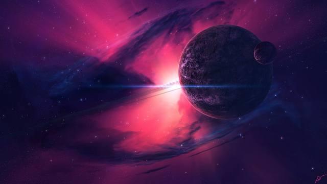 космос, вселенная, туманность, свет, планеты, звёзды