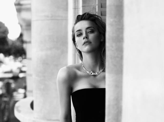 Amber Heard, herečka, obličej, portrét