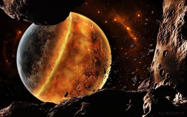 космос, планета, астероиды