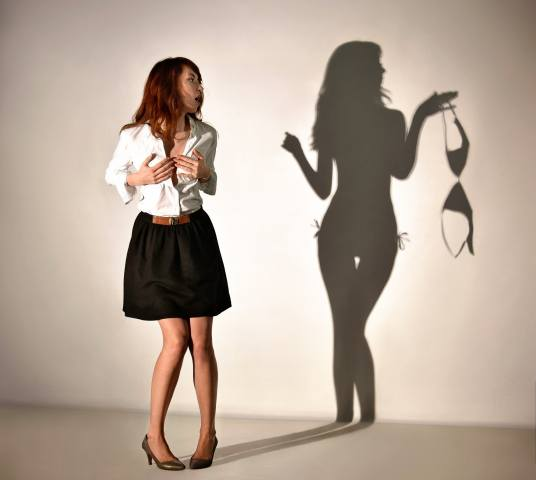 girl, shadow, creative