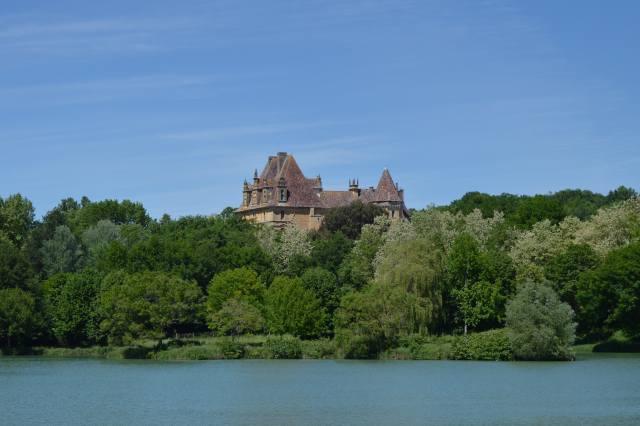 замок, lanquais, дордонь, перигор, аквитания, Франция