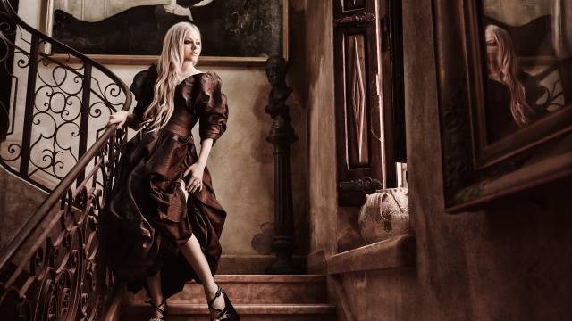 avril lavigne, blonde, dress, retro, music
