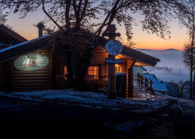 Germany, winter, the house, evening, Korbach