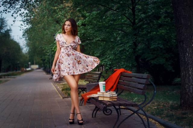 девушка, модель, взгляд, Alexander Drobkov