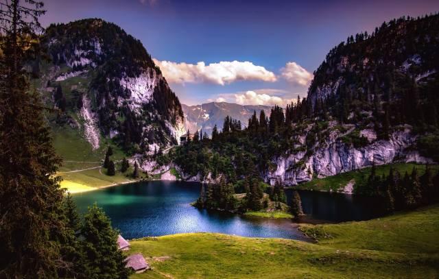 Switzerland, Switzerland, nature, mountains, the lake