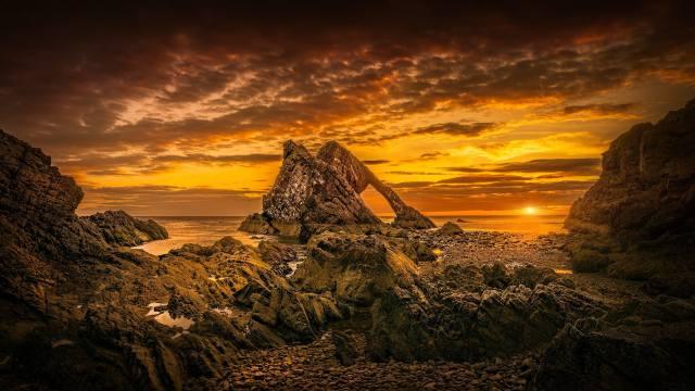 Scotland, Пляж.облака.море, sunset