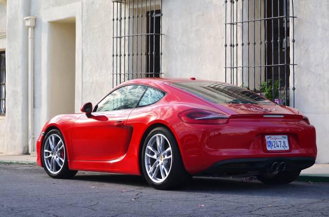 Red, Porsche, cayman