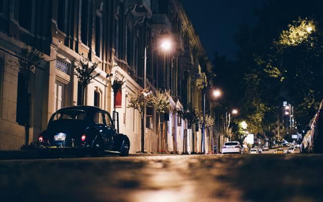 Ночнь, the city, street, Car