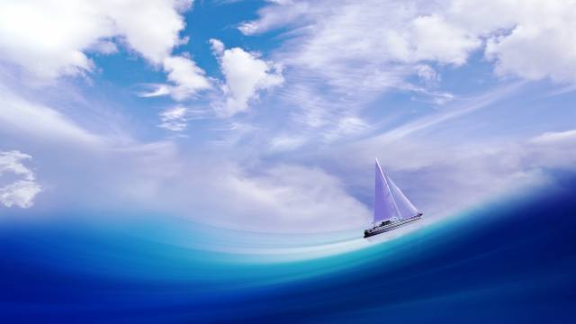 sea, the sky, yacht, wave, Soorelis