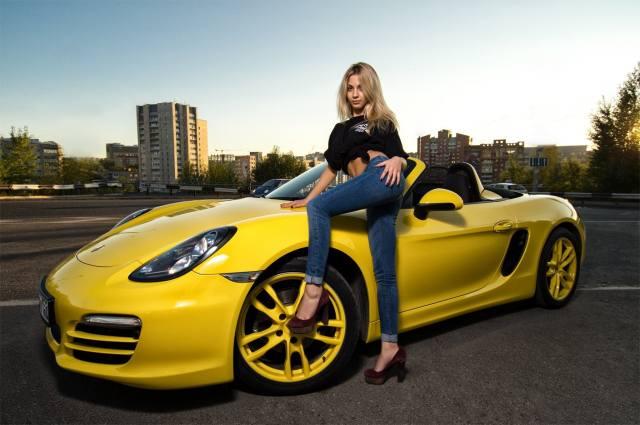 yellow, Porsche, cayman