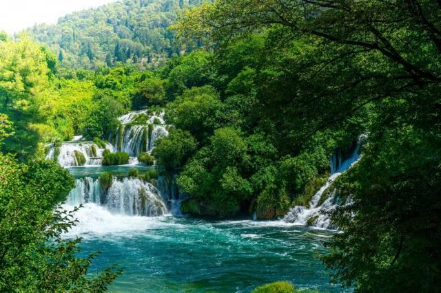 vodopád, proud, водопады Крка, Chorvatsko