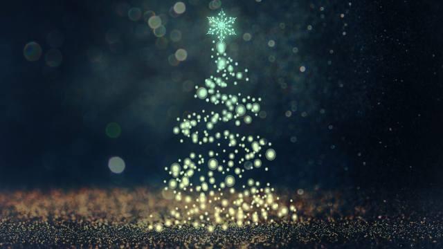 Новый год, елка, вектор, абстракция