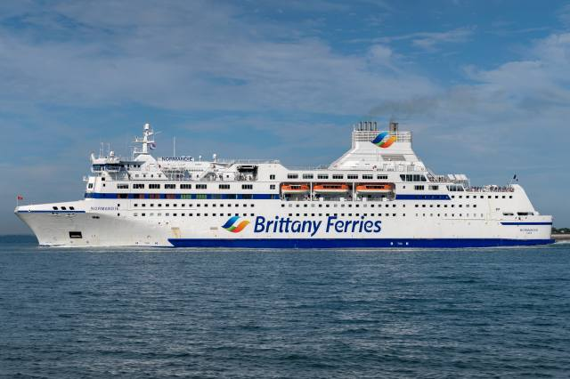 sea, ship, MV Normandie, Brittany Ferries, ship