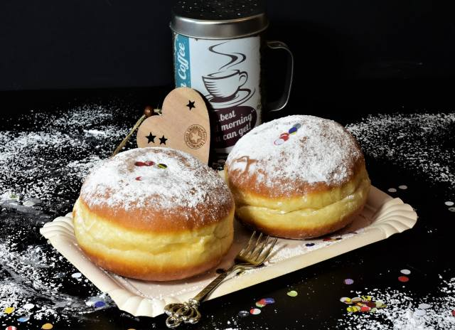 donuts, сахарная, powder