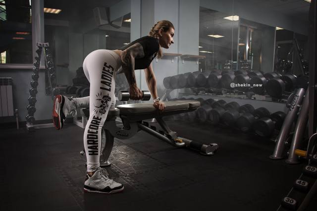 girl, the gym, training