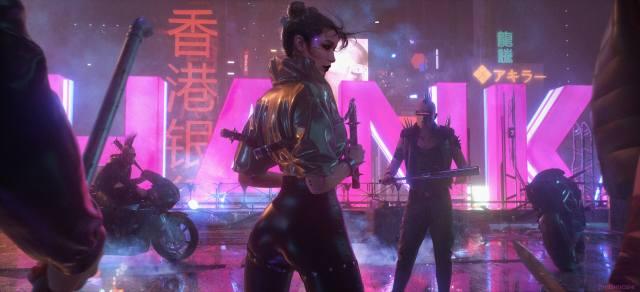 cyberpunk, Hanka, bikes