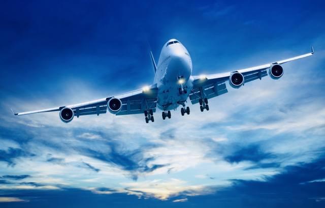 the plane, flight, the sky
