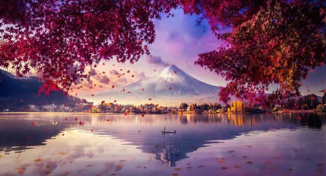 hora, fuji, завораживающий, výhled