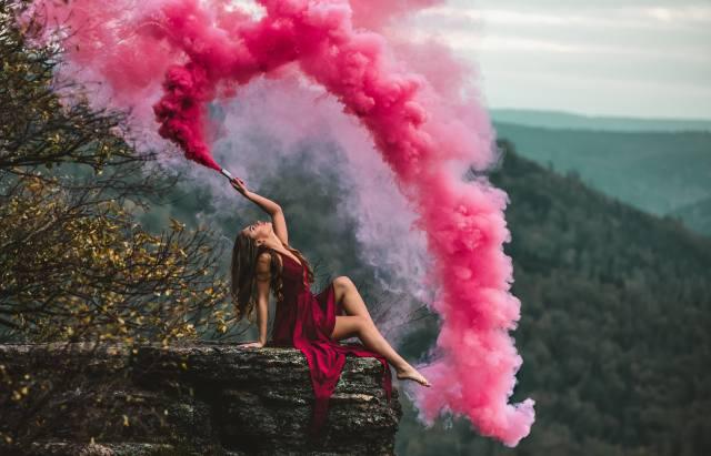 girl, smoke, anna