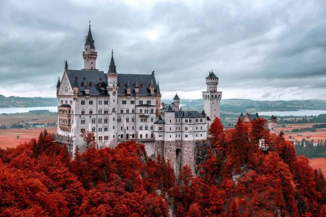 замок, Нойшванштайн, Лебединый замок, Германия