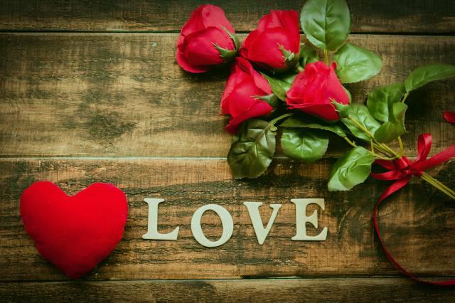 розы, сердечко, Любовь