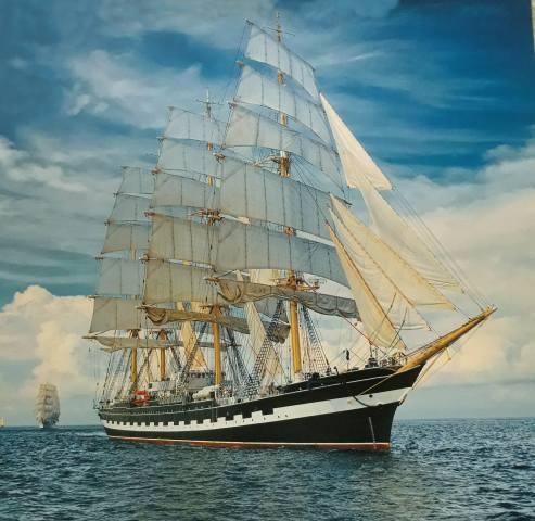sails, sea, wave
