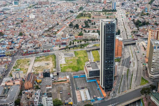 bogotá, Kolumbie, město, panorama