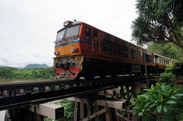the locomotive, train, the bridge, tropics