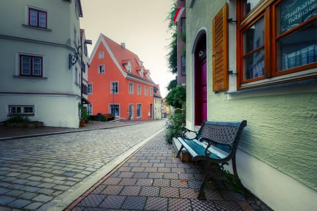 ландсберг, bavorsko, město, исторический центр