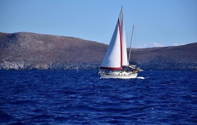 hory, moře, jachta