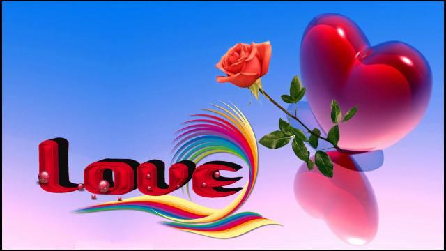 я тебе люблю, я люблю тебе, Любов, сердечко, роза