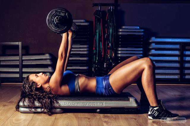 girl, sports, sports, exercises, rod, lies, the gym, training, women