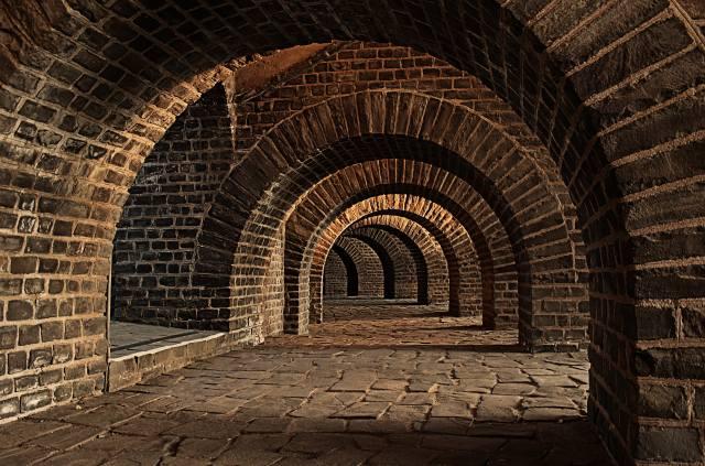 погреб, туннель, арки, Келлер