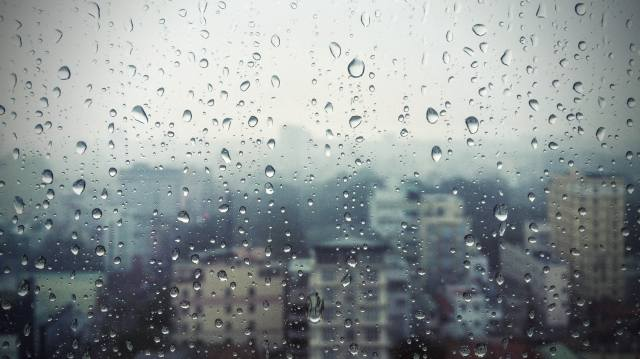 window, glass, the rain, drops