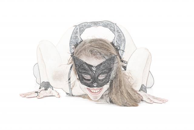 white background, mask