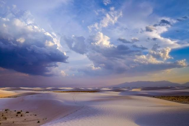 New Mexico, desert, clouds, the sky, nature