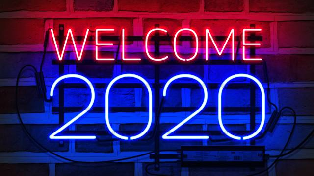 welcome, 2020, new year, Neon