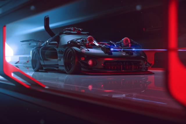 cyberpunk, tuning, vehicle, DODGE VIPER