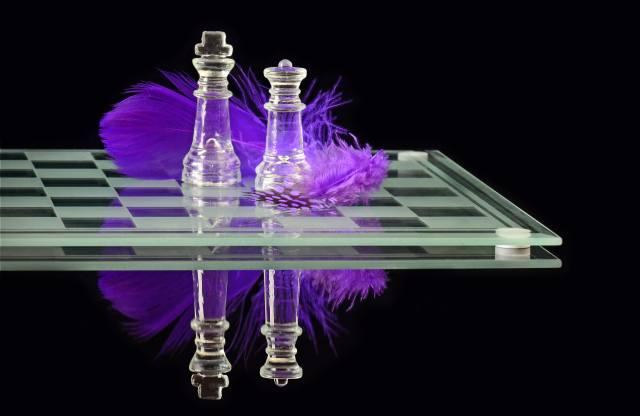 šachy, šachovnici, pero, odraz, černá, pozadí, фигур
