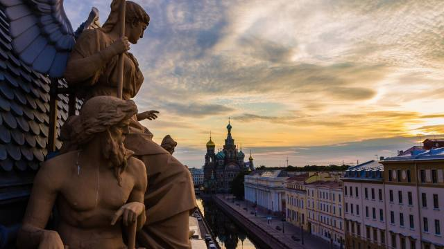 Petersburg, peter, Socha, panorama, с высоты