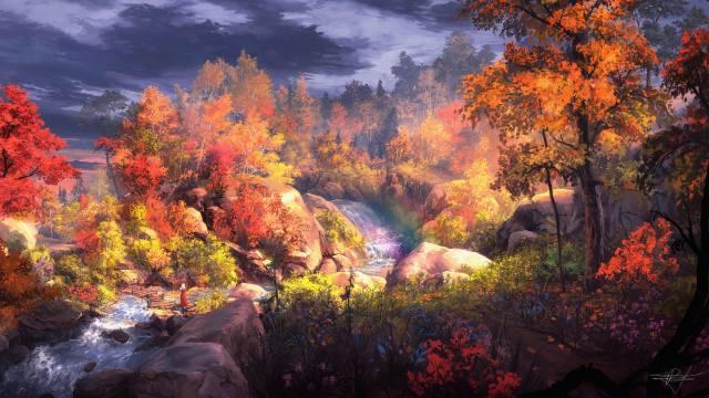 картина;арт, podzim