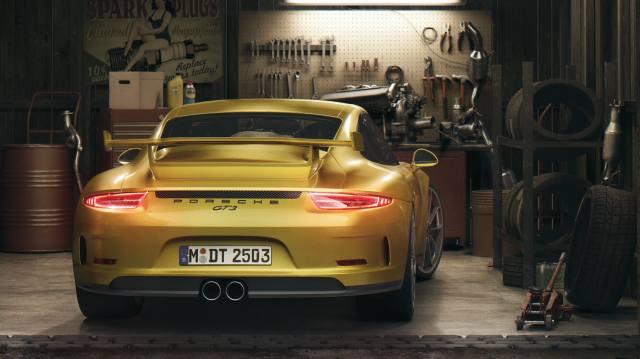 Porsche, GT3, garáž