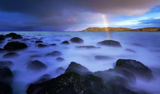 moře, nebe, duha