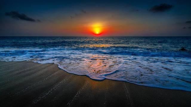moře, pláž, příroda