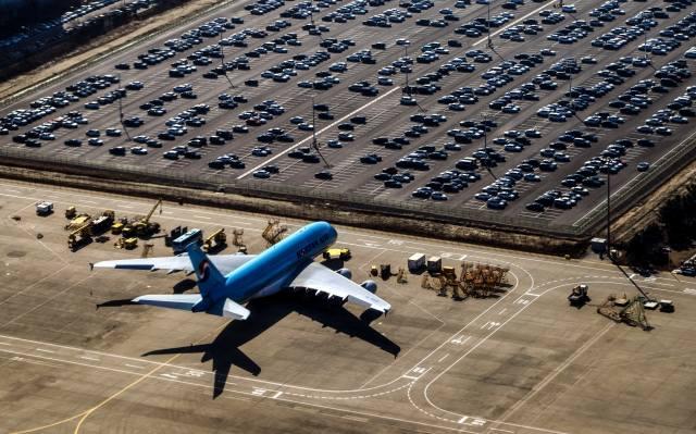 аеропорт, літак, Автомобілі, парковка